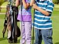 Kids at a golf field