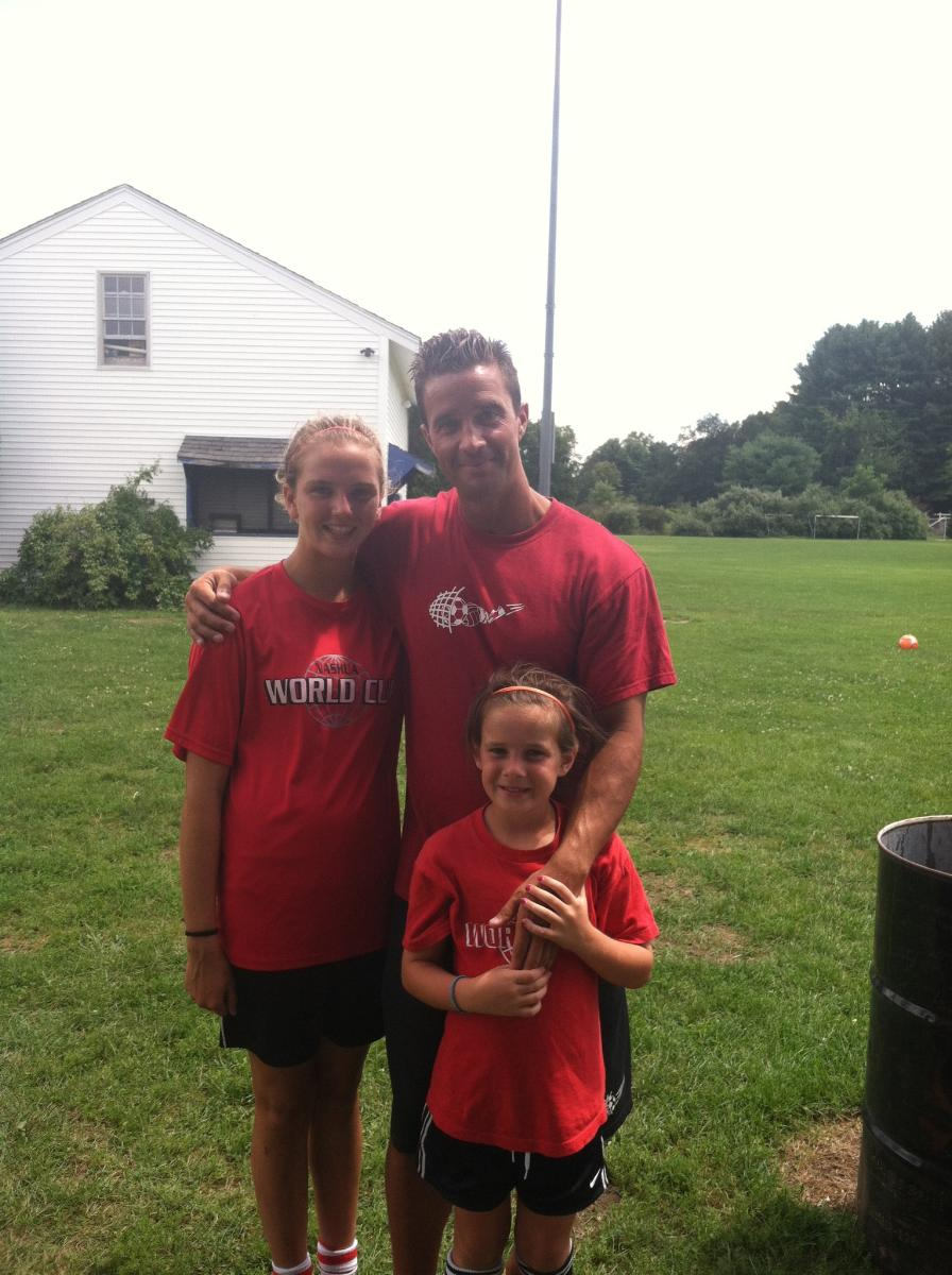 sisters at soccer camp