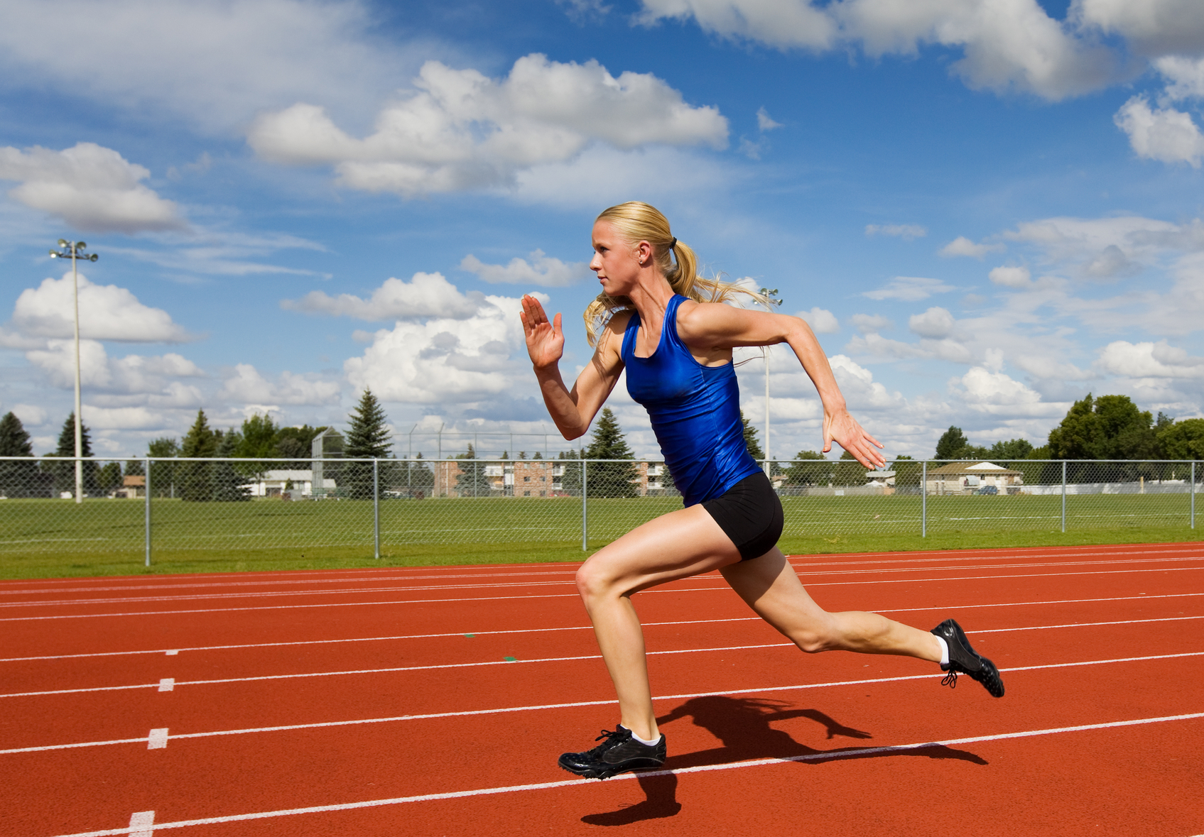 girl at track practice
