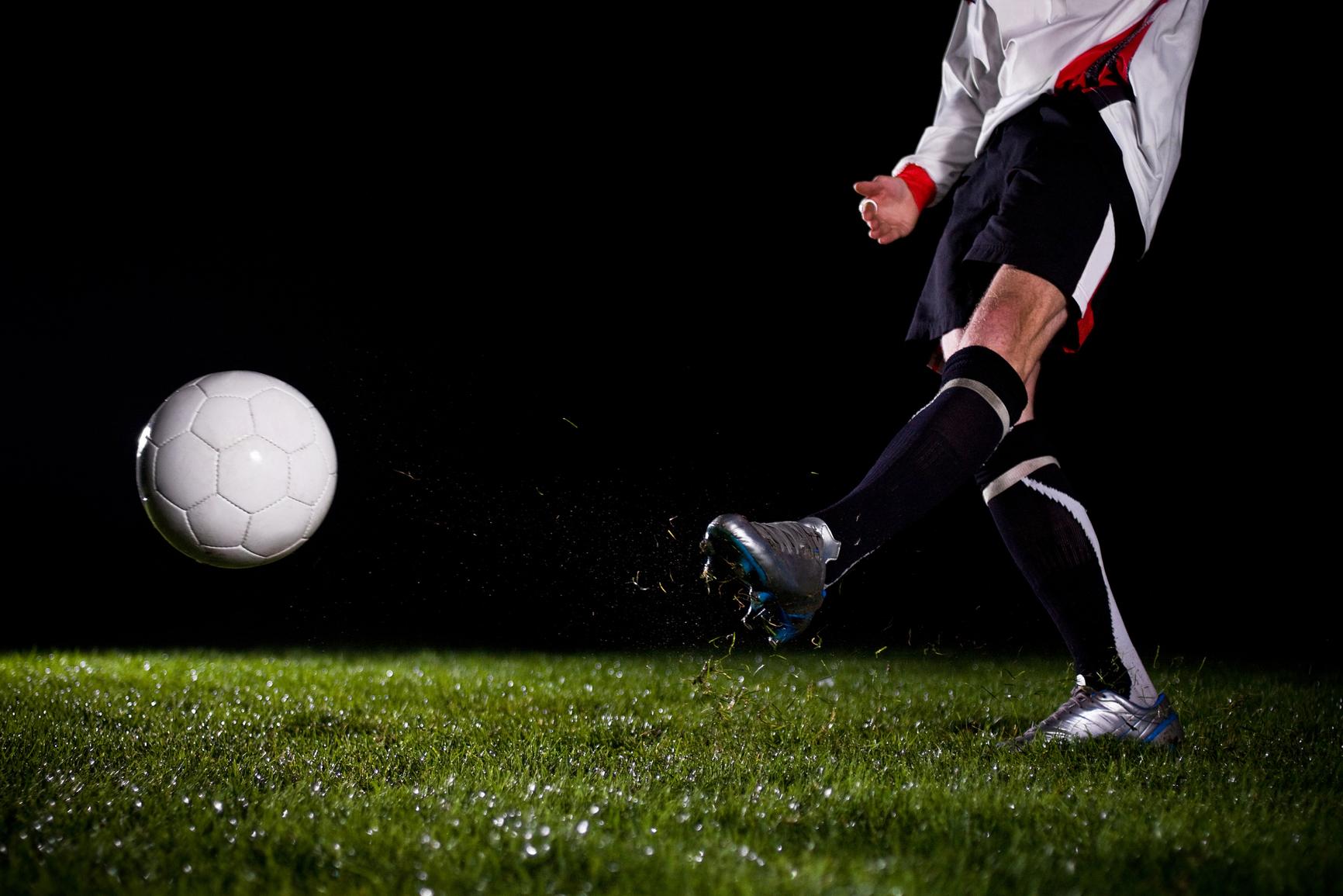 soccer in the dark